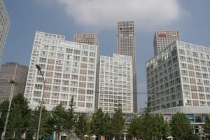 Häuserfassade in Peking