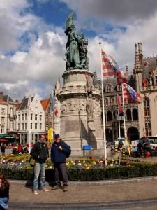 Besuch der Stadt Brügge während des Landganges