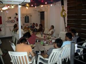 Die BBQ-Party auf dem ruhigen Pazifik