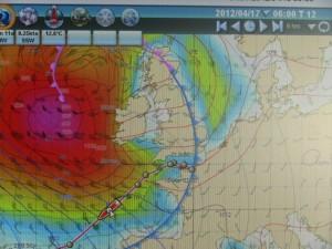 Der aufziehende Sturm im Golf von Biscaya
