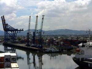 Blick in den Hafen von Guayaquil