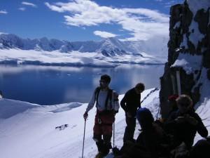 Bergsteigen in der Antarktis