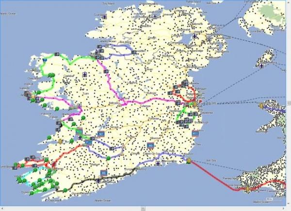 campingplätze irland karte Irland Rundreise mit Wohnwagen