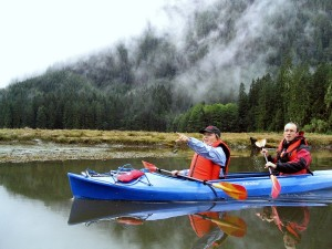 Mit dem Kajak in British Columbia.
