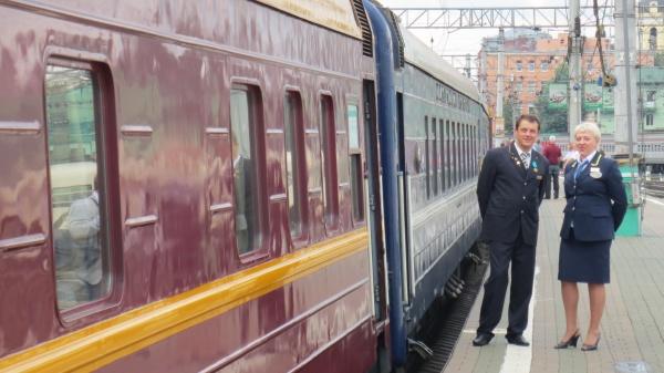 Urlaubsreise in der Transsibirische Eisenbahn