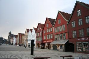 Handelszentrum Bryggen in der Hansestadt Bergen