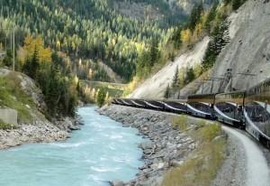 Während der Zugfahrt mit dem Rocky Mountaineer, Kanada