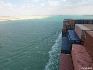 Frachterreise im Suezkanal