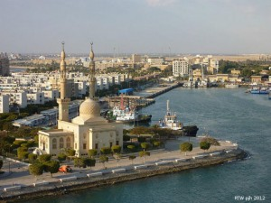 Das Erreichen der Stadt Suez