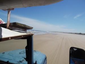 Trekking am Strand von Cabo Polonio
