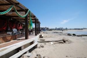 Restaurant am Strand von Cabo Polonio