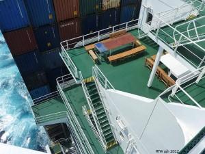 BBQ-Platz auf Frachtschiff Reisen