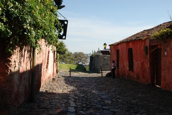 Calle de los Suspiros in Uruguay`s Colonia del Sacramento
