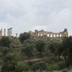 Marokko Ferienreise - Volubilis, die rmische Ruinenstadt gehrt zum UNESCO Weltkulturerbe 