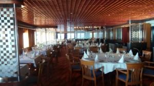 Das Restaurant auf der MS Hamburg