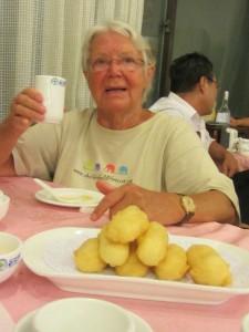 Quarkbällchen und dann Peking -Ente