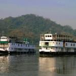 Flusskreuzfahrt auf dem Brahmaputra durch Assam, Indien