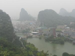 Blick vom Mingyue-feng