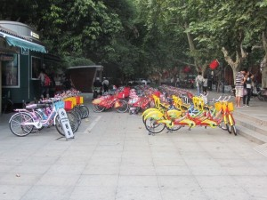 Fahrräder zu vermieten