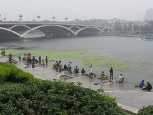 Angler am Lijang-Fluss