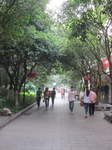 Fussgängerallee in Guilin