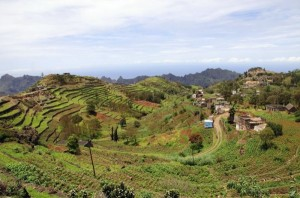 Terassenfeldbau auf Santo Antao