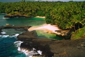 Badebucht auf Sao Tome