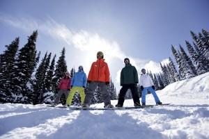 Skifahren Snowboard fahren Kanada