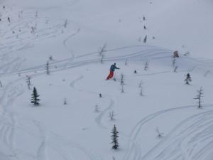 Skireise durch Kanada, Snowboard