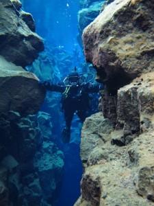 Island tauchen in Silfra Spalte