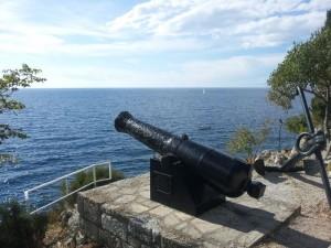 Ausblick von Rovinj auf das Mittelmeer