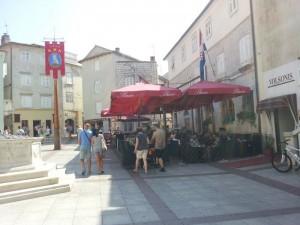 Markplatz der Stadt Krk