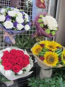 Blumensträusse nahe der Nathan Road