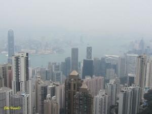 der Peak auf unserer Stadtrundfahrt durch Hongkong