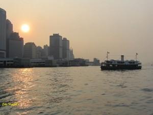Hongkong im Abendlicht