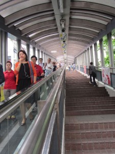 der Mid-Levels Escalator in Hong Kong Island