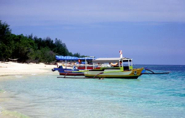 Gili Insel Auslegerboot
