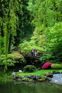 Japanische Landschaftsarchitektur in Portland