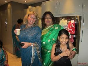eine indische Feier im Sari