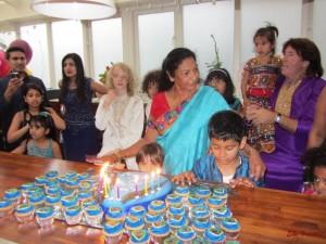 die Geburtstagstorte
