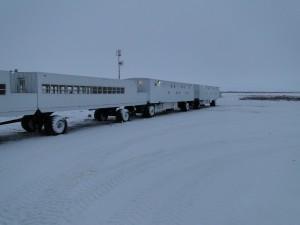 Übernachtet wurde auf der Tundra Buggy Lodge.