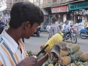 reife und aromatische Ananas