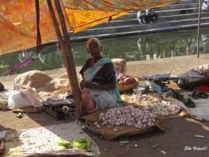 Marktfrau in Maharashtra