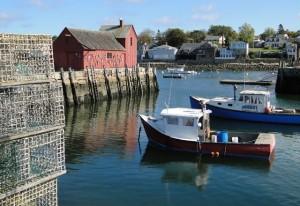Hummerboote und Hummrkörbe