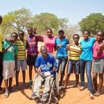 Begegnung in Victoria Falls mit dem Nationaltrainer der Rollstuhl Basketballmannschaft