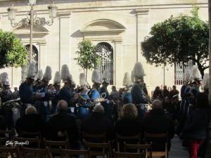 Musikkapelle anlässlich des Feiertages