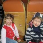 Skifahren mit der Familie in Savognin in der Schweiz