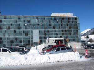 Unser Hotel Cube von aussen