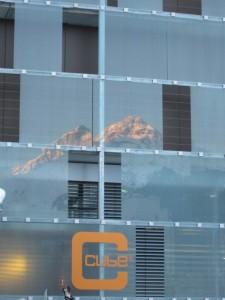 Panorama Spiegelung im Cube Hotel