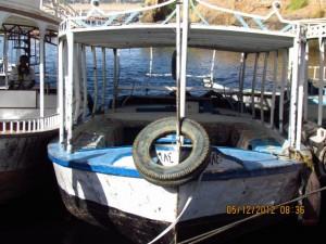 Boote an der Insel Philae